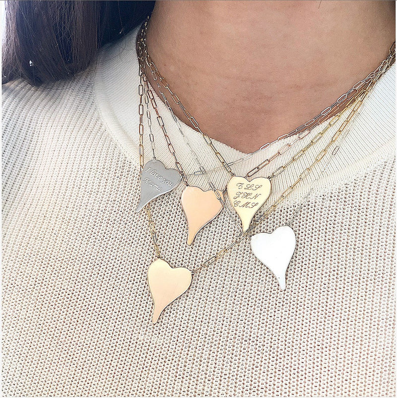 I Love You Mama Heart Necklace