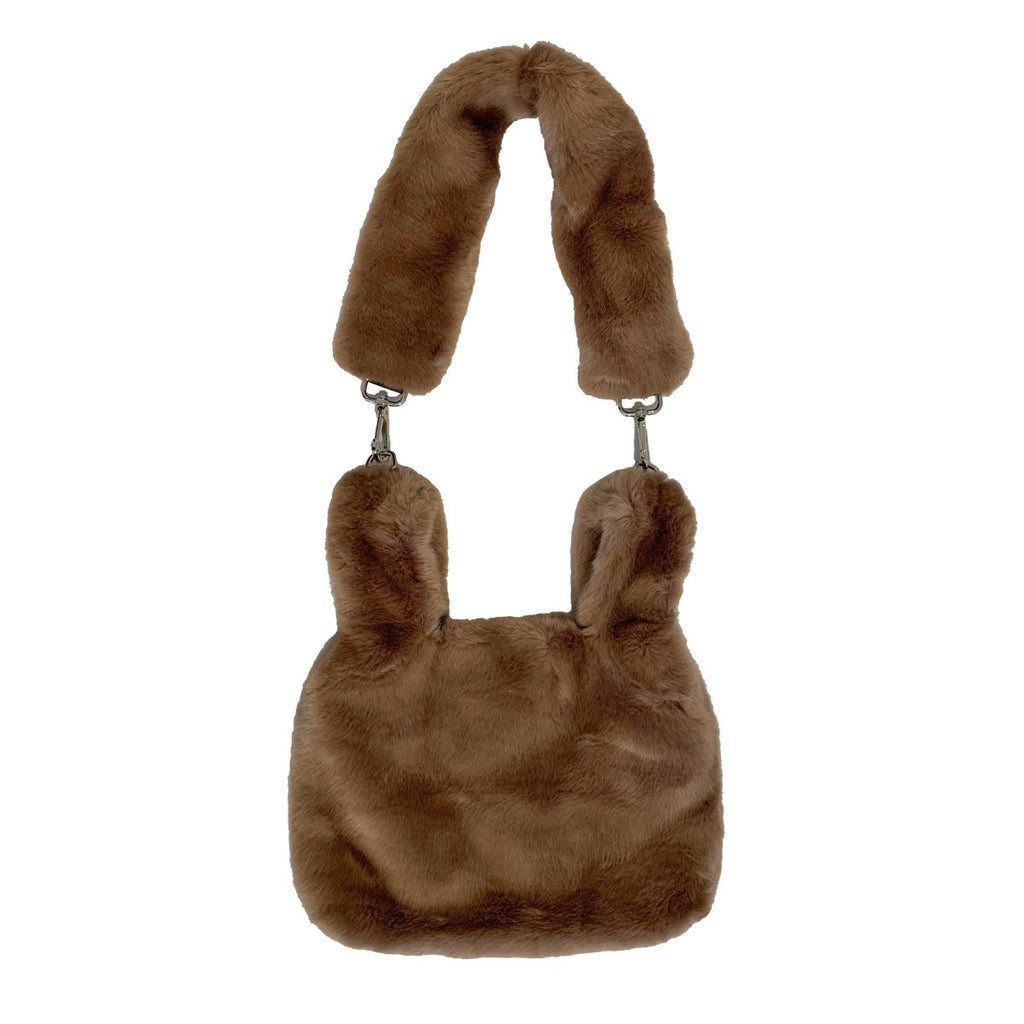 Brown Faux Fur Bag