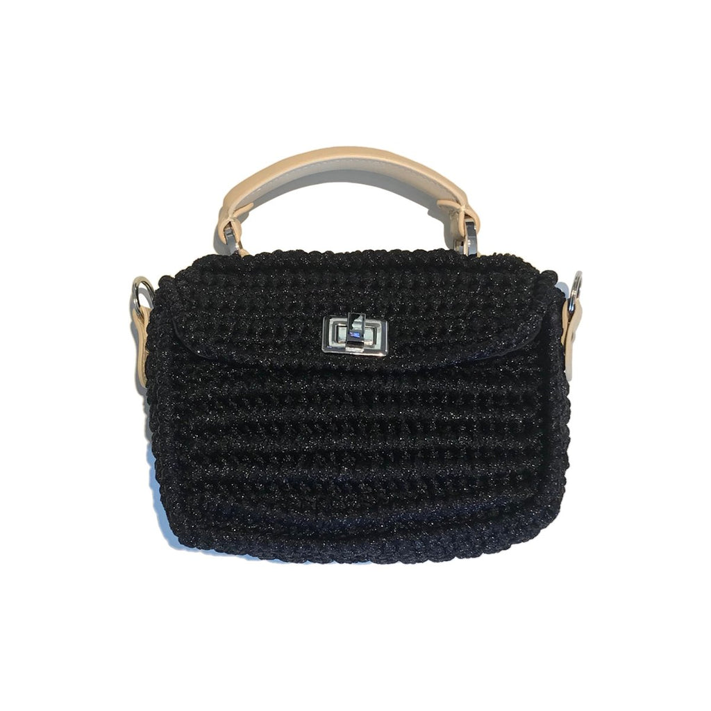 Woven Mini Black Bag