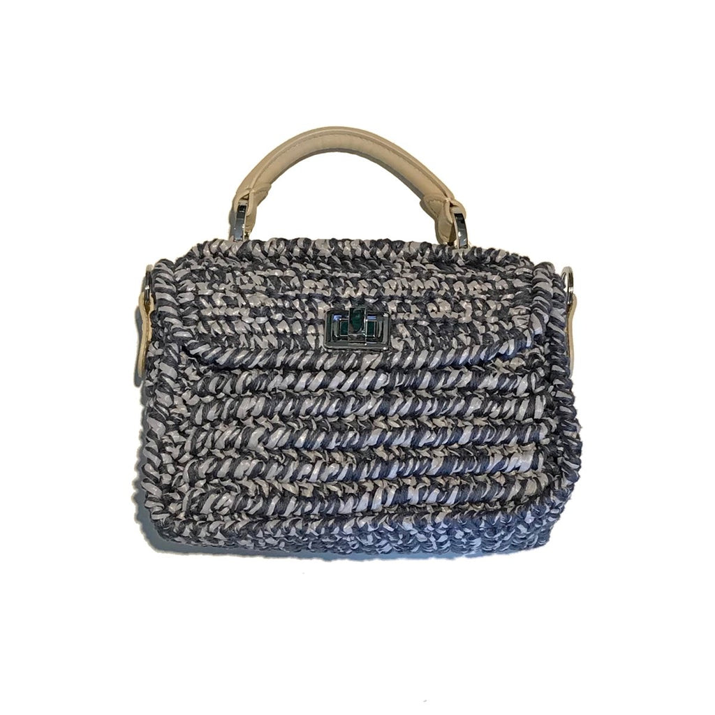 Woven Mini Grey Bag