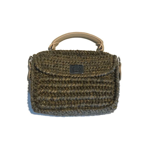 Woven Mini Green Bag