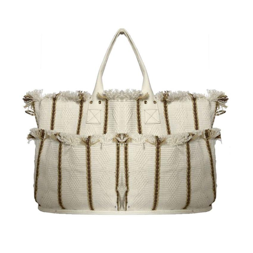 Natural Woven Tote Bag