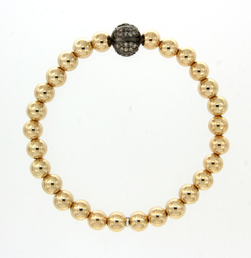 Diamond Round Stretch Bracelet