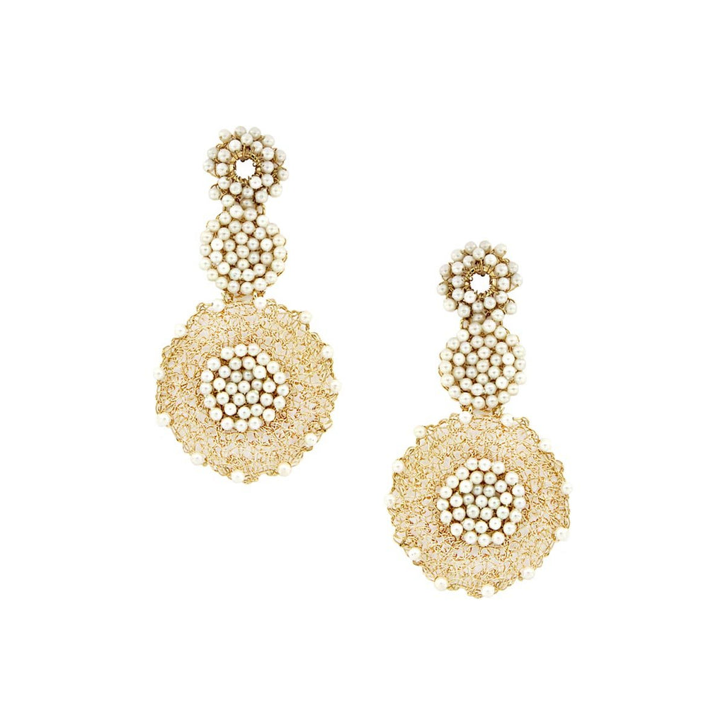 Mesh Pearl Earrings