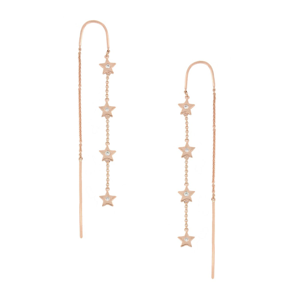 Diamond Star Thread Earring