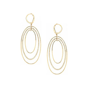 Diamond Oval Earrings