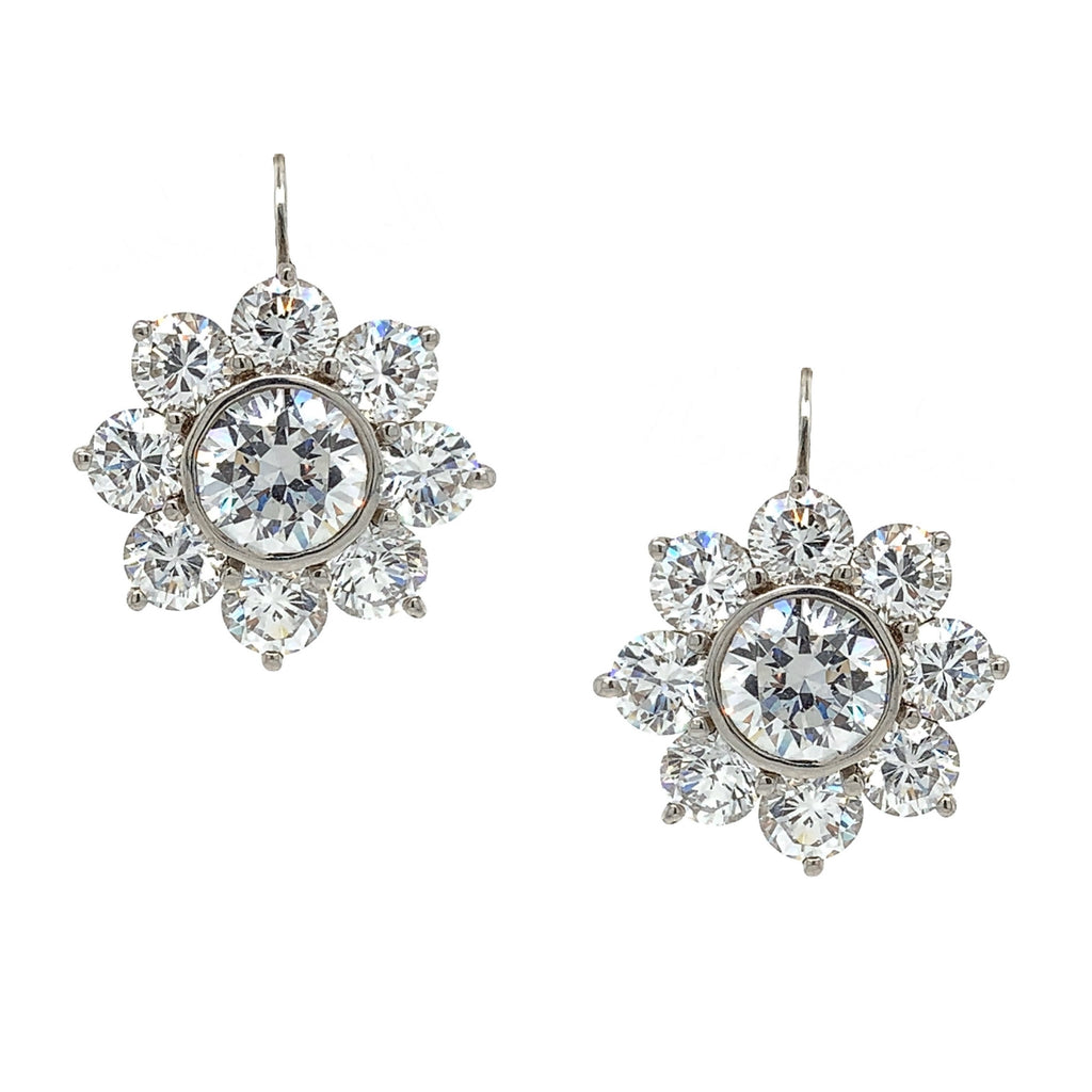 SALE Flower Drop Earrings