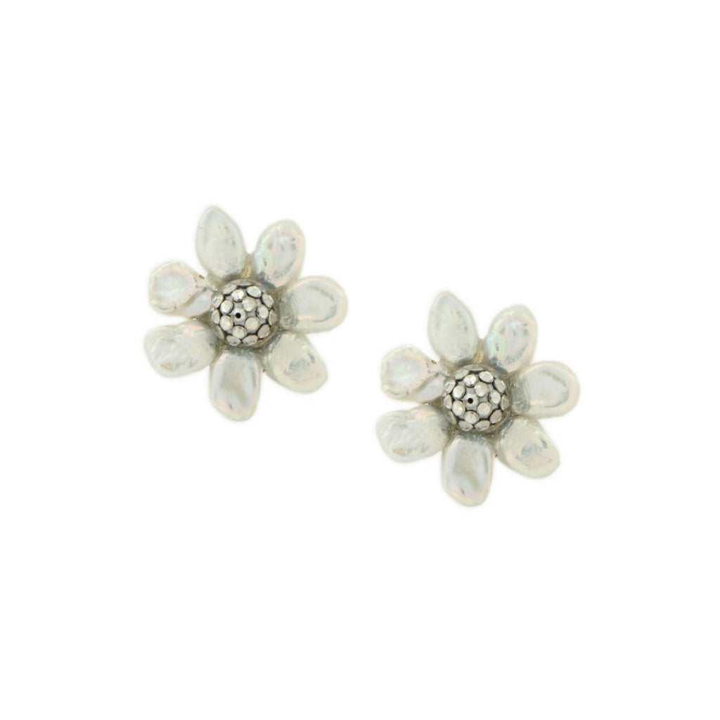 SALE Pearl Flower Earrings