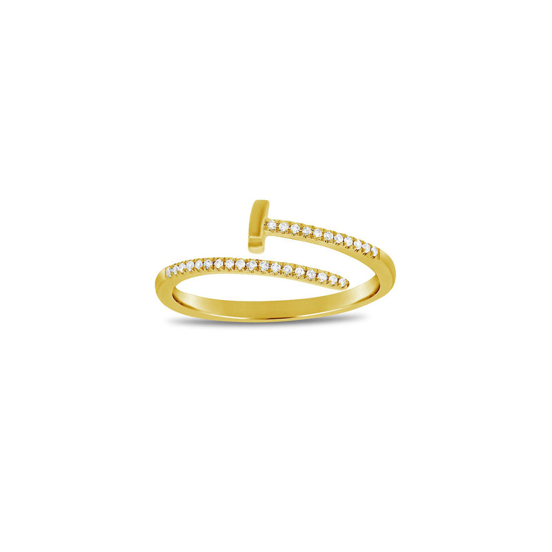 SALE Diamond Screw Twist Ring