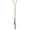 SALE Natural Wood Lariat Necklace