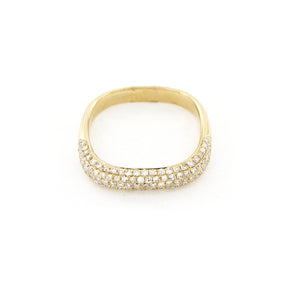 Diamond Square Band Ring