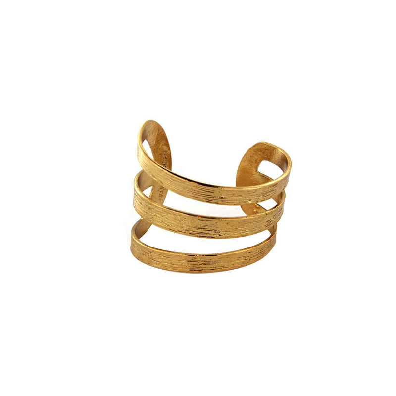Three Row Cuff Bracelet