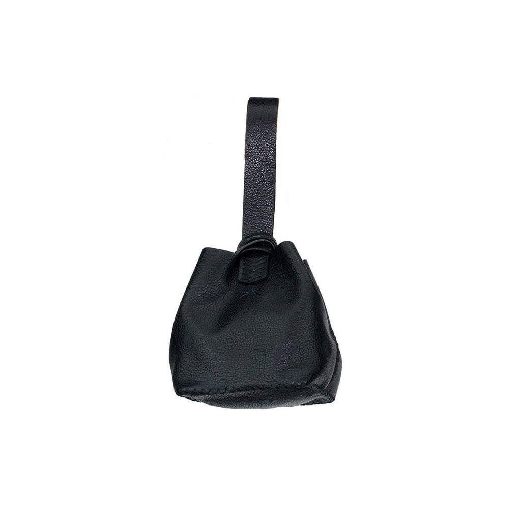 Leather Mini Bucket Bag