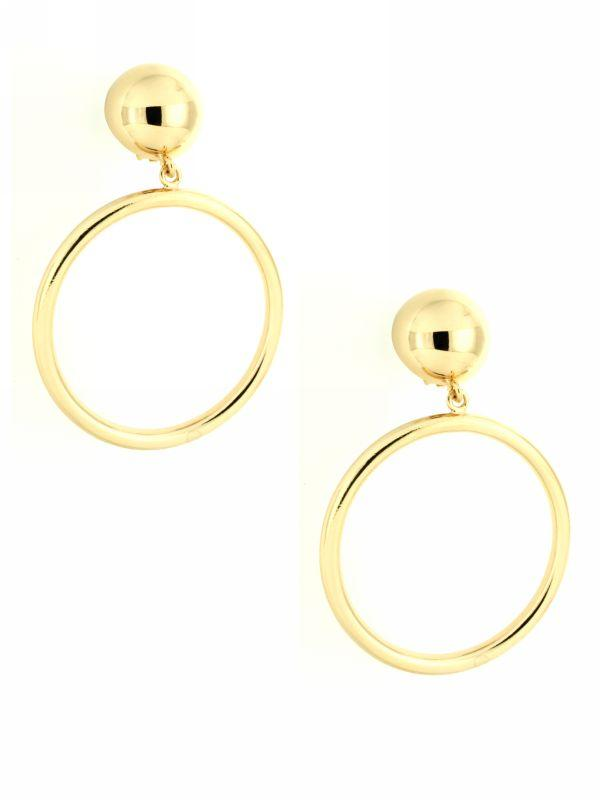 Hoop Clip On Earrings