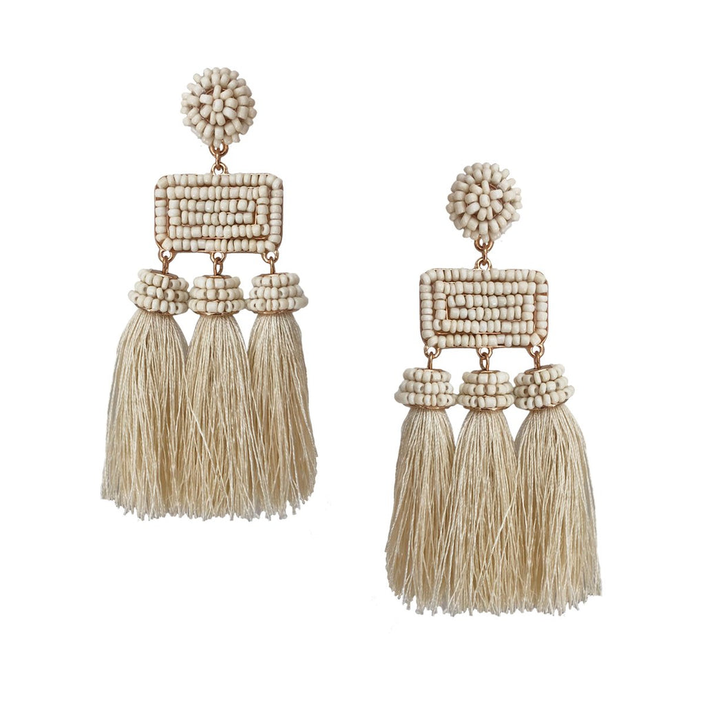 SALE Tassel Beaded Earrings