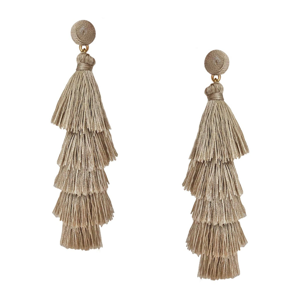 SALE Layered Tassel Earrings