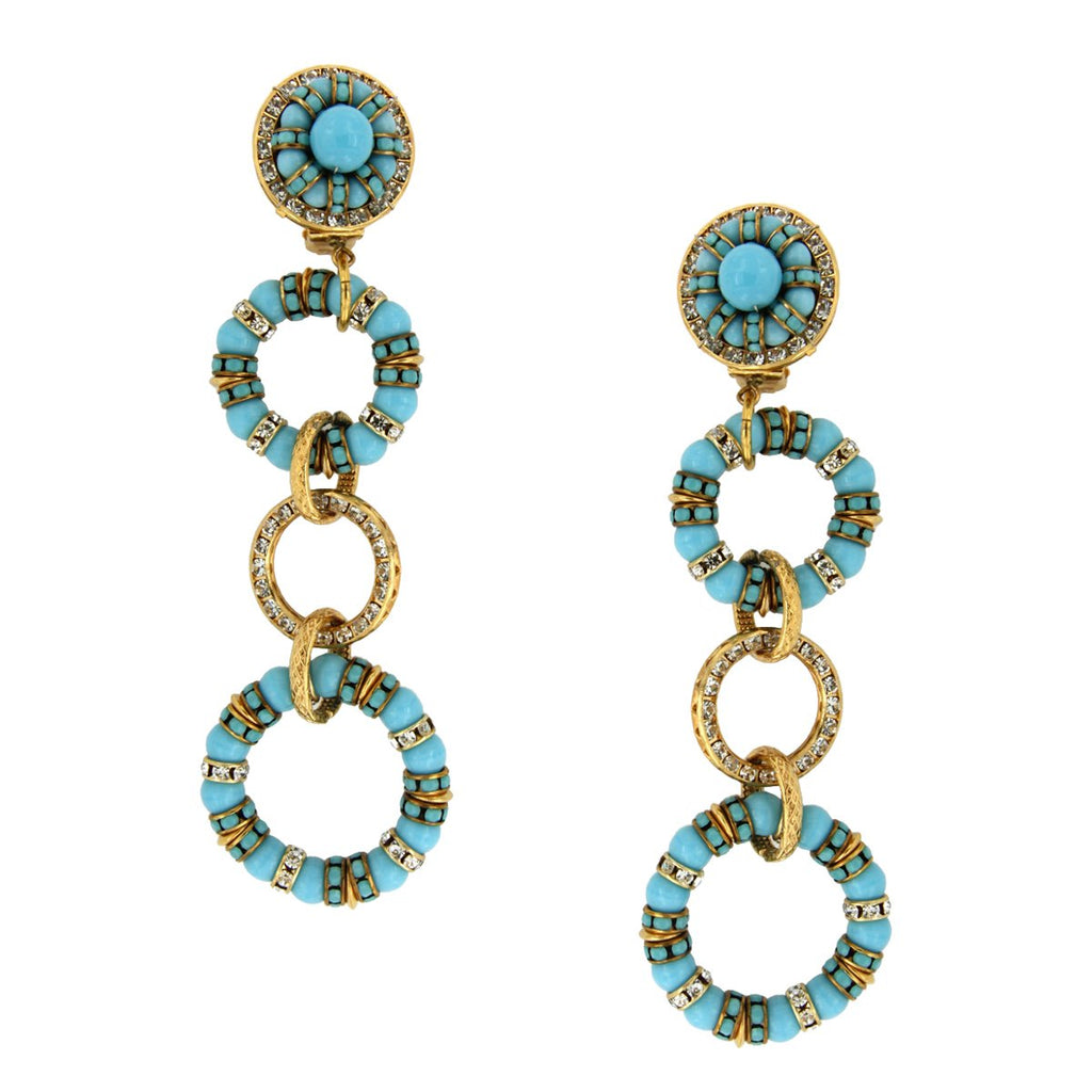 SALE TURQUOISE LINK EARRINGS