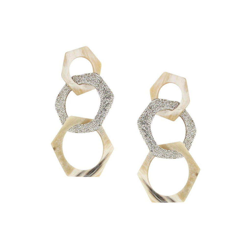 Hexagon Horn Drop Earrings