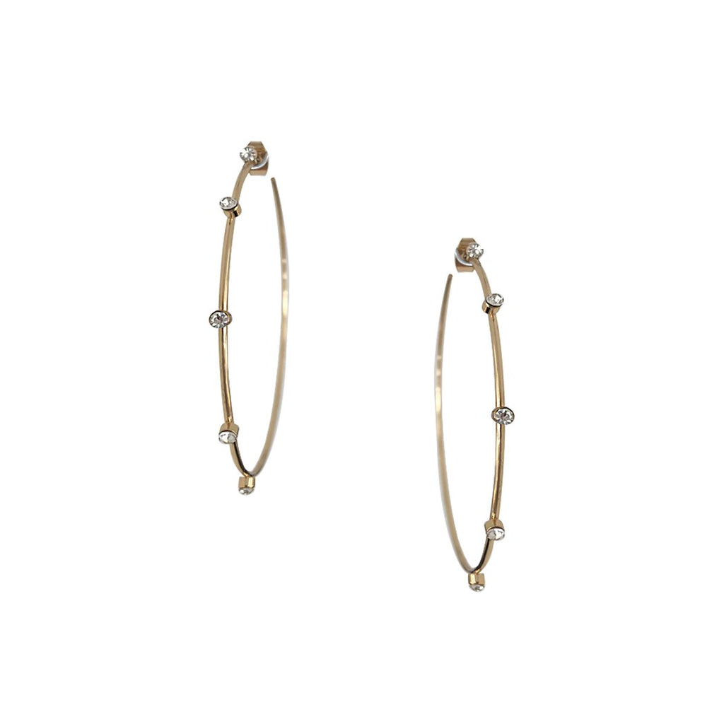Bezel Hoop Earrings