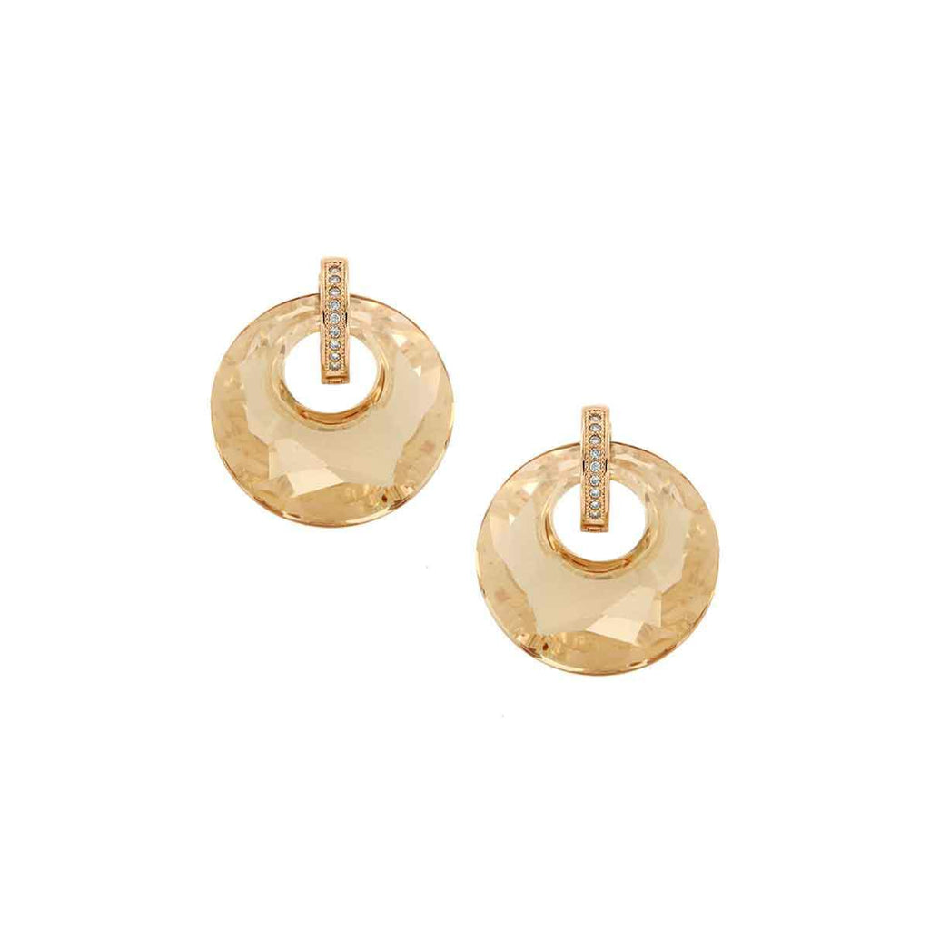 SALE Crystal Circle Drop Earrings
