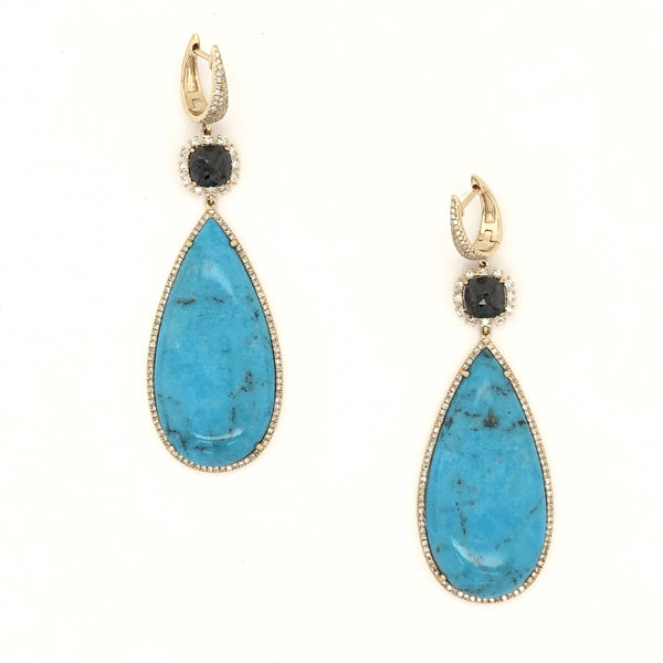 Turquoise Link Earrings
