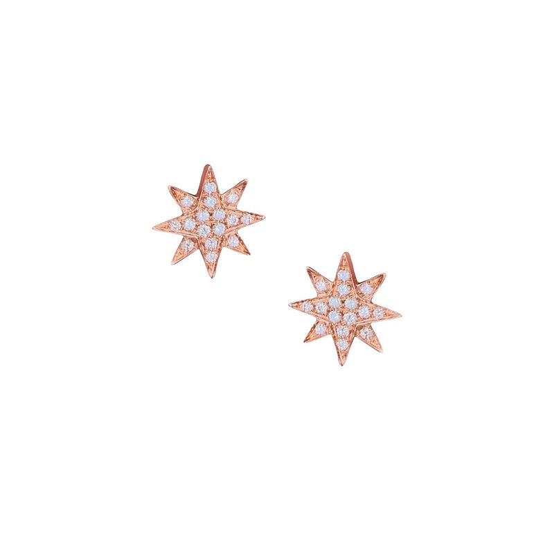 Diamond Star Stud Earrings