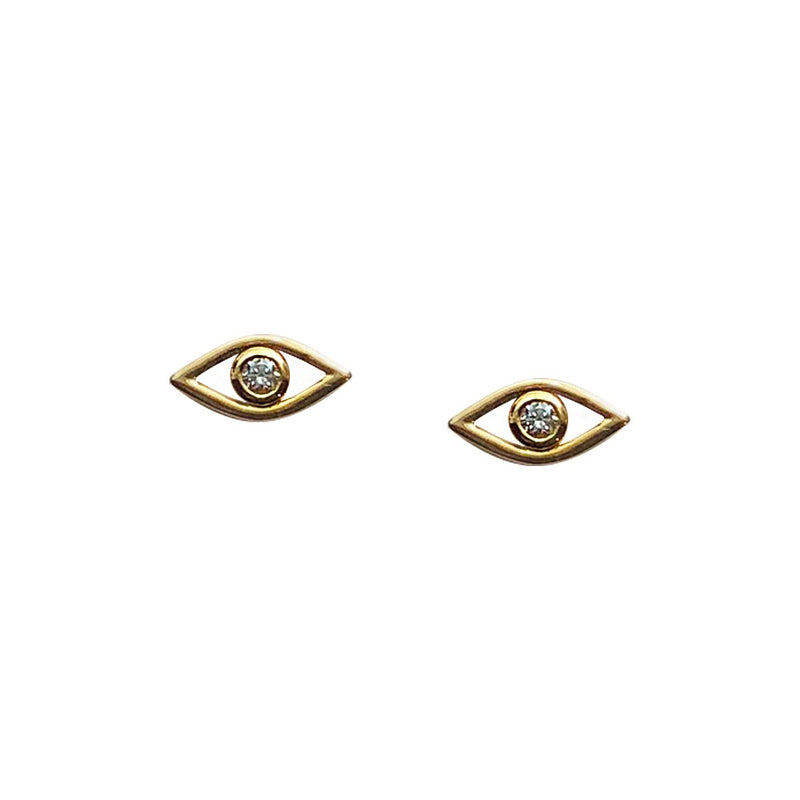 Diamond Eye Stud Earrings