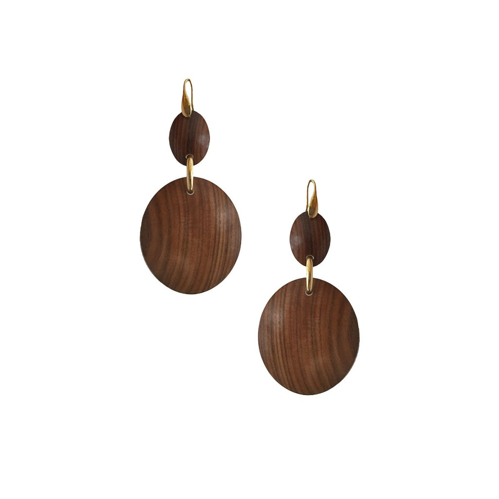 SALE Wood Earrings