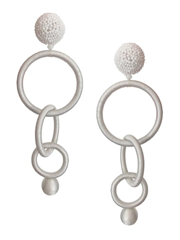 Triple Hoop Clip On Earrings