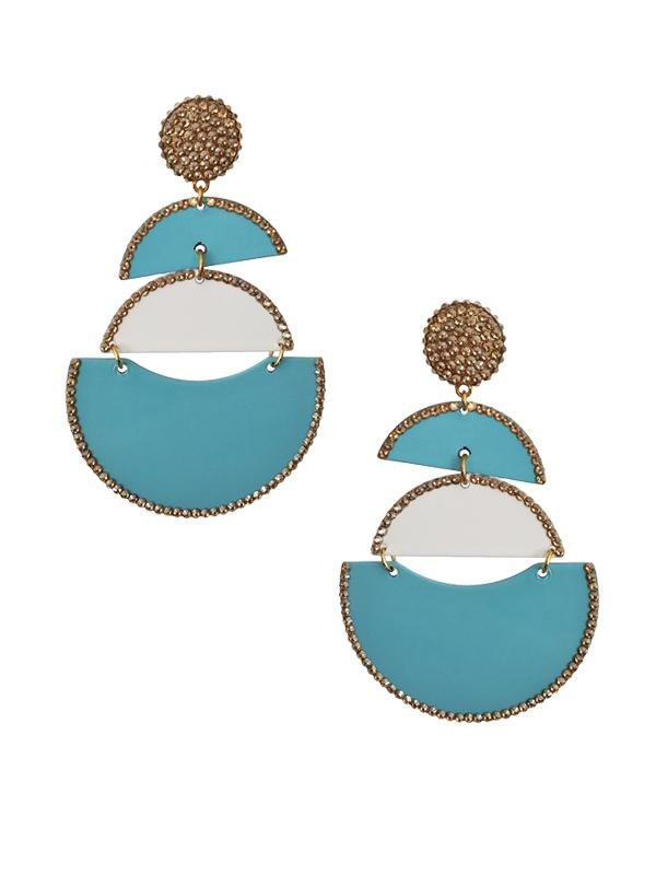 SALE Geometric Drop Earrings