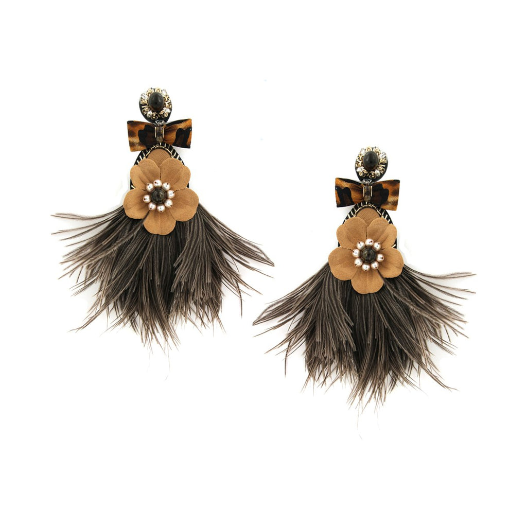 Feather Clip On Earrings