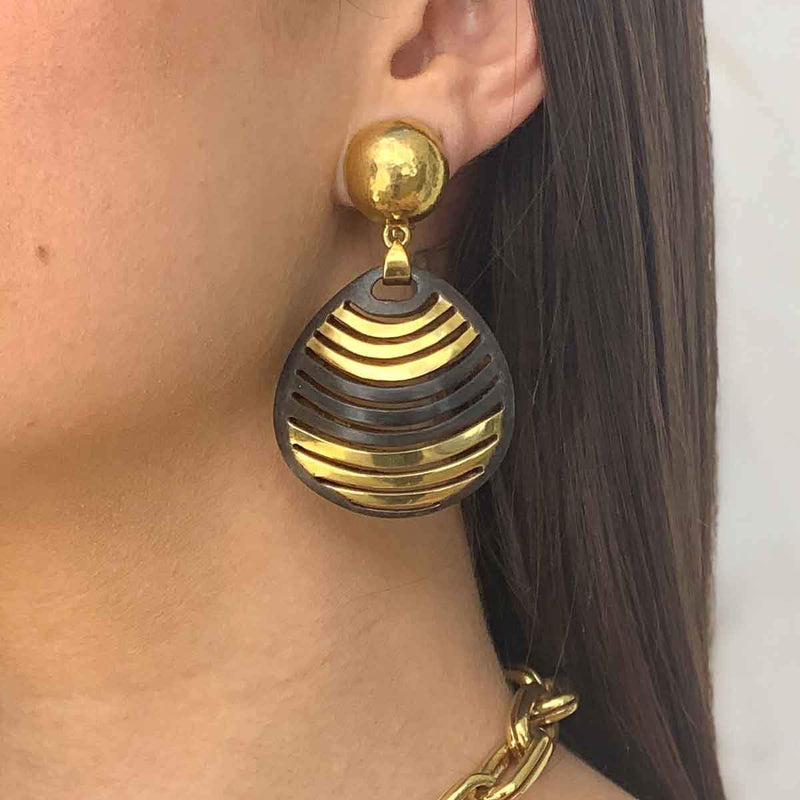 Teardrop Clip On Earrings