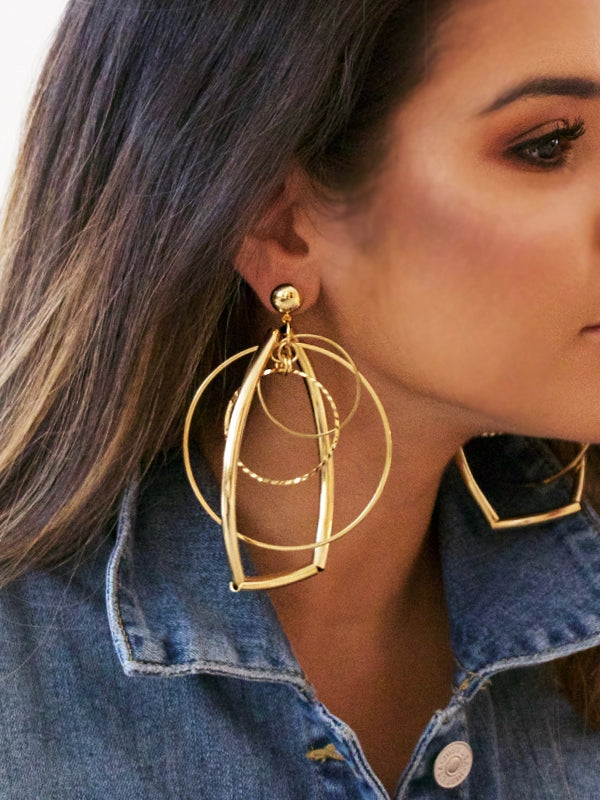 Geometric Concentric Earrings