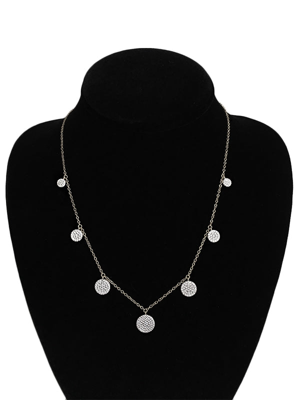 Sparkle Multi Disc Necklace