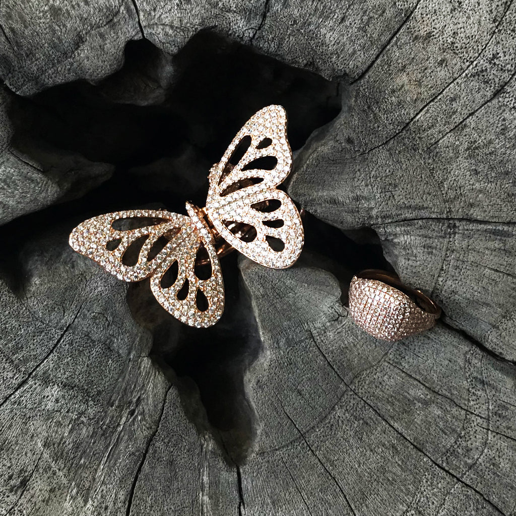 Butterfly Knuckle Ring