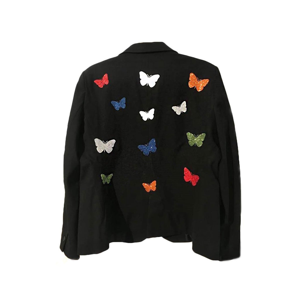 Multi Color Butterfly Blazer