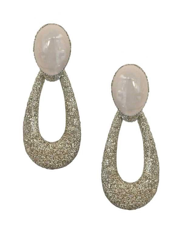 Sparkle Open Teardrop Earrings