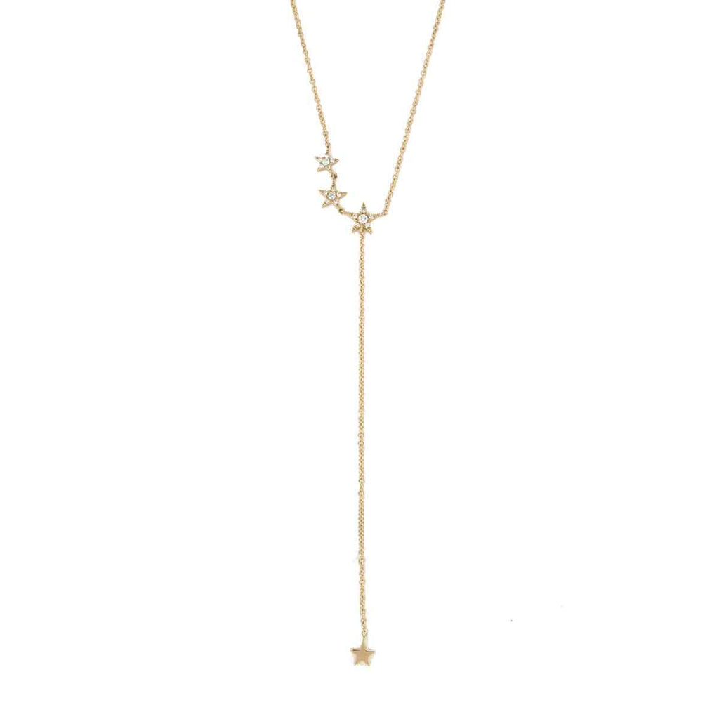 Diamond Star Lariat Necklace