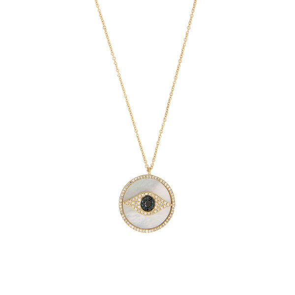 Diamond & Pearl Eye Necklace
