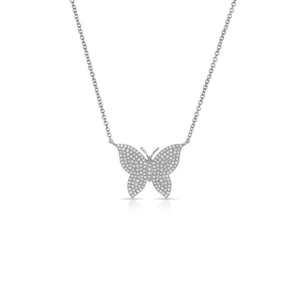 Diamond Butterfly Necklace