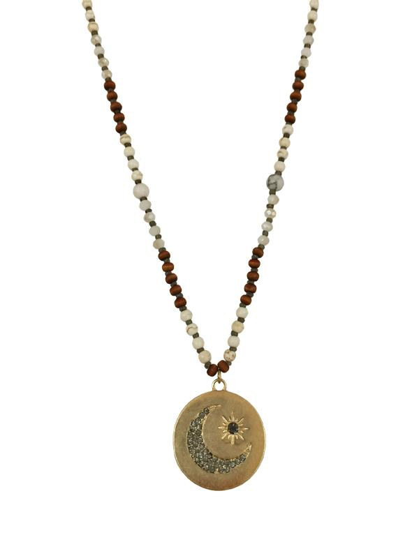 Moon & Sun Disc Necklace