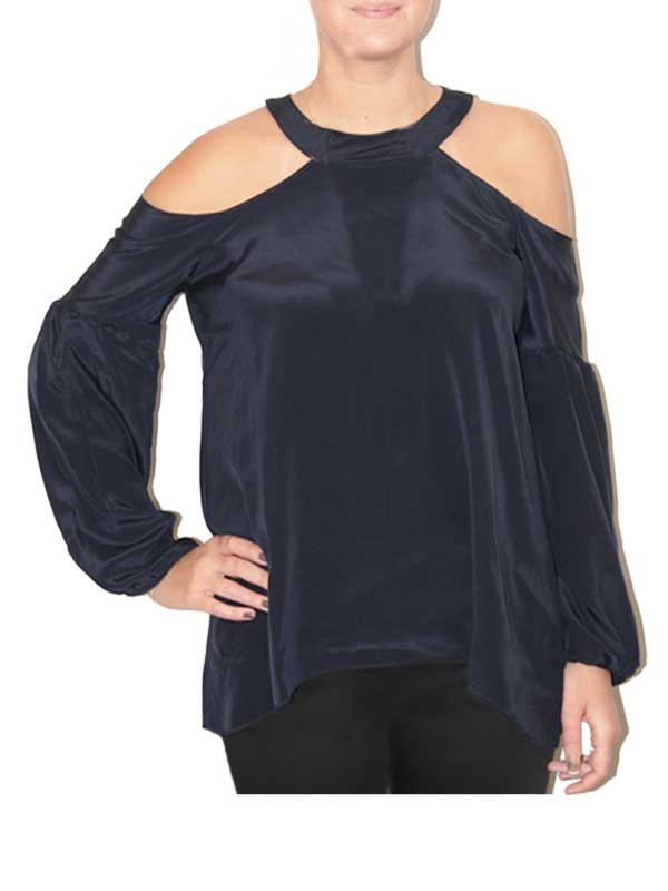 Navy Peekaboo Top