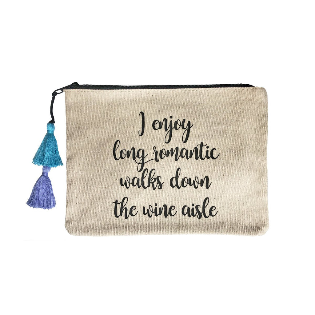 Tassel Pouch With Quote