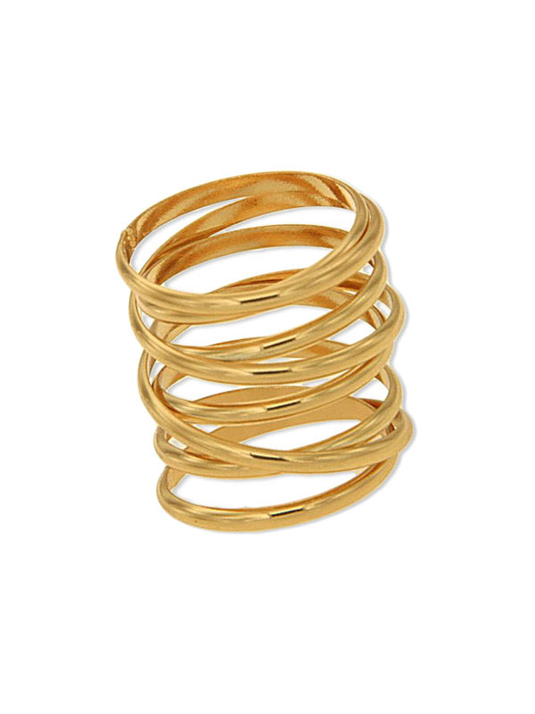 Coil Criss Cross Ring