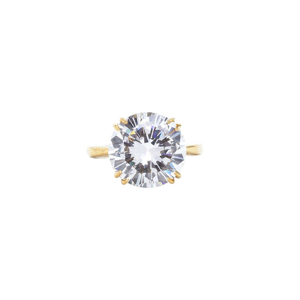 Faux Diamond Solitaire Ring