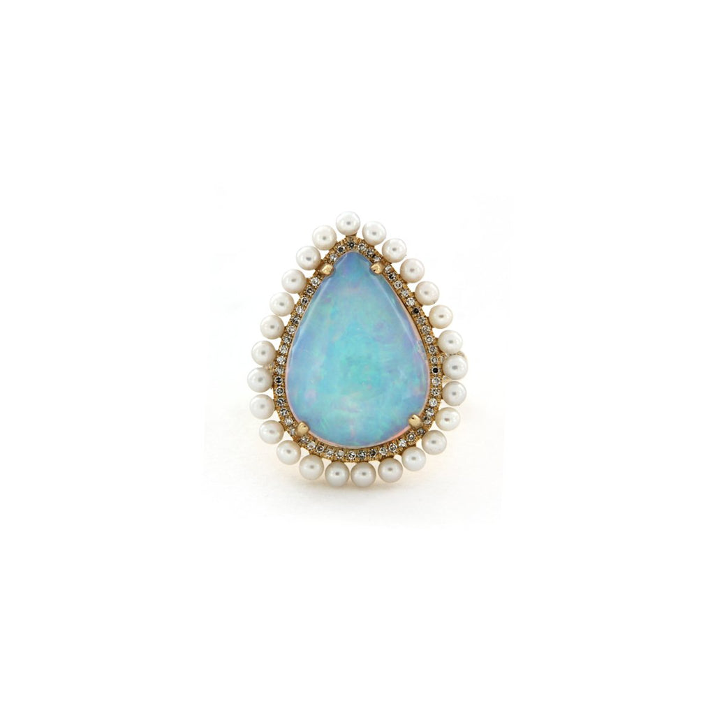 Opal Pearl Ring