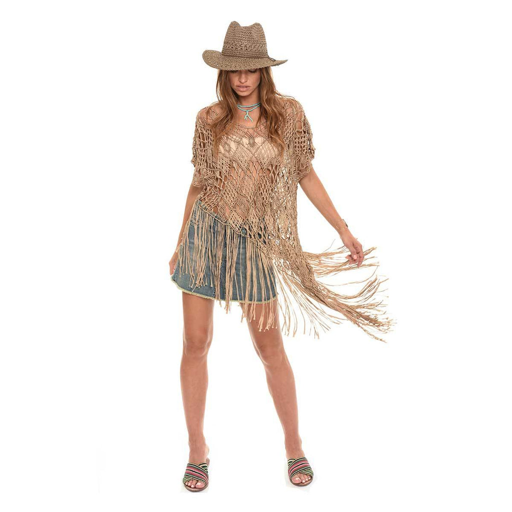 Asymmetrical Fringe Top