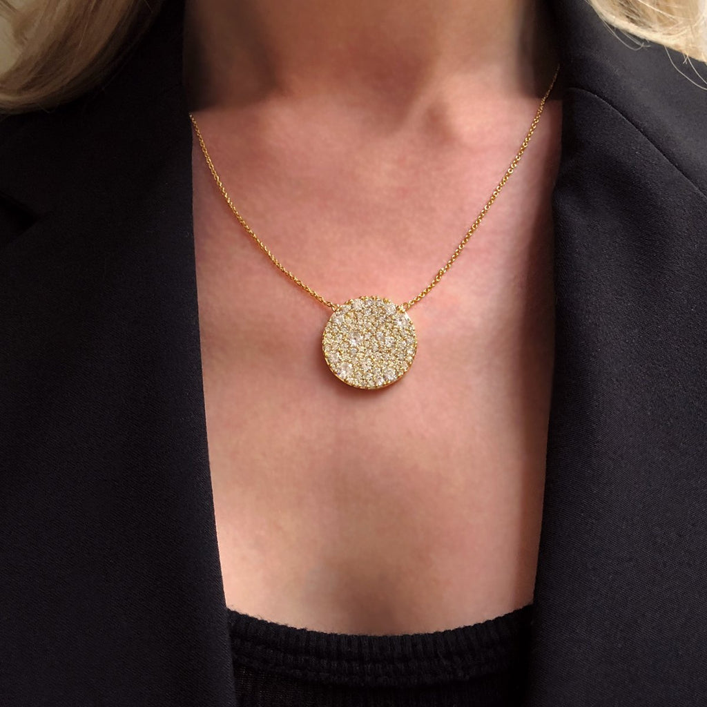 Sparkle Disc Necklace
