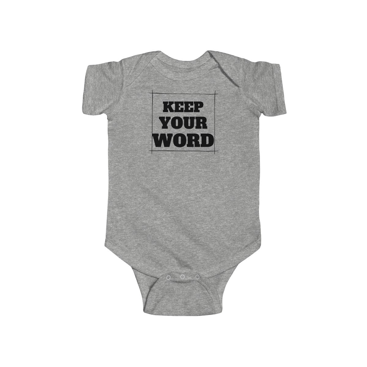 Keep your word - Infant Fine Jersey Bodysuit by Dray-A
