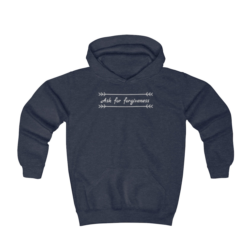 Ask for forgiveness - Youth Hoodie by Dray-A